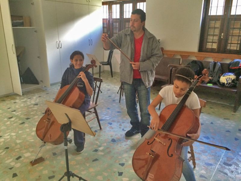 Projeto Ed. Integral II - aula de música
