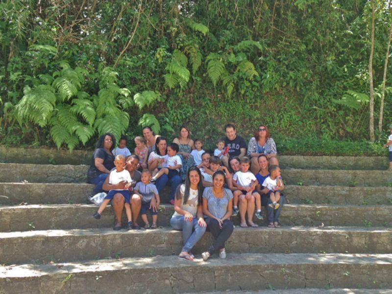 Com a família no Canto de São Francisco