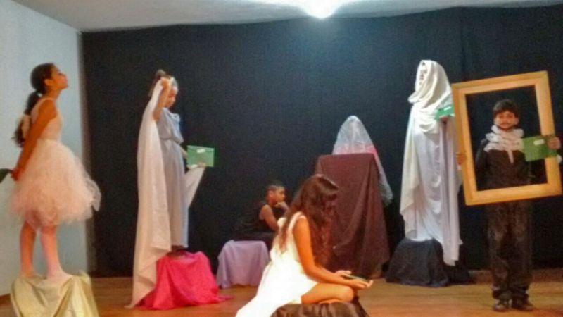 Estátuas Vivas na Oficina de Teatro